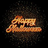 Happy Halloween glitter confetti background