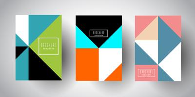 Brochure templates with abstract low poly designs