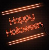 Halloween neon sign background