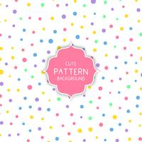 Cute circle pattern background