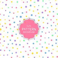 Círculo lindo patrón de fondo