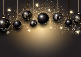 Sfondo di palline di Natale