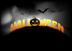 Halloween background with jack o lantern