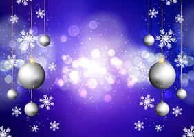 Fundo de Natal com luzes de bokeh