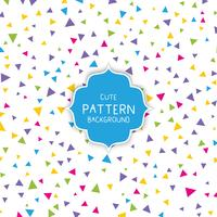 Cute triangle pattern background