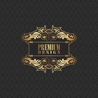 Elegant background design with premium logo