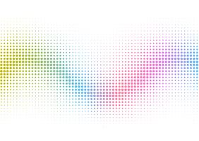 Rainbow halftone dots background  vector
