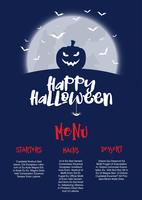 Halloween menu design
