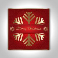 Design de cartão de Natal decorativo