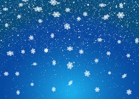 Jul snöflingor bakgrund