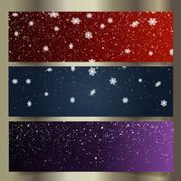 Kerst sneeuwvlok banners