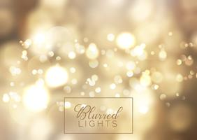 Golden bokeh lights background  vector