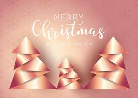 Abstract origami style Christmas tree background