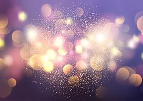Bokeh lights and glitter background