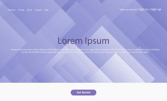 Abstract website landing page with geometric design