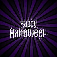 Happy Halloween background with grunge lettering