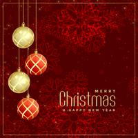 luxury style merry christmas greeting design