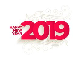 lovely new year 2019 creative background