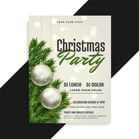 christmas party cover flyer template design