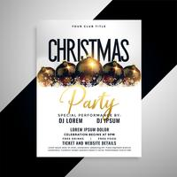 design de cartaz de panfleto de bolas de natal
