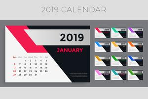 creative 2019 calendar template design