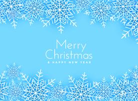 merry christmas snowflakes background design
