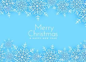 merry christmas snowflakes background design
