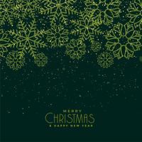 beautiful christmas green snowflakes background