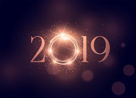 beautiful glowing 2019 shiny background