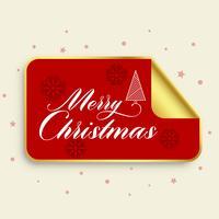 merry christmas golden sticker design