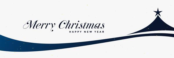 stylish christmas tree design banner