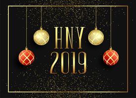2019 happy new year seasonal greeting background