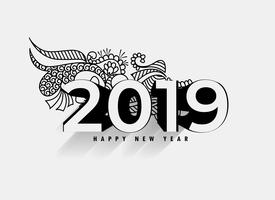 decorative 2019 3d effect background