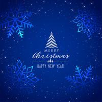 beautiful blue snowflakes background for merry christmas