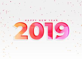 beautiful 2019 new year background with confetti