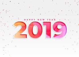 beau fond de nouvel an 2019 avec des confettis