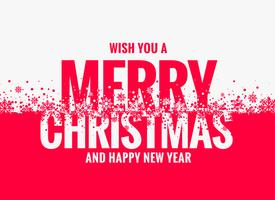 merry christmas and new year wishes greeting design