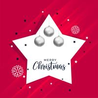 christmas background with star and ball decoration
