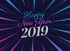 2019 party style new year background