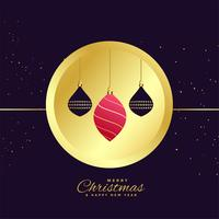 stylish merry christmas ornamental decoration background