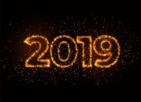 2019 writter in glanzend sparkles deeltje-effect