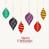 belas bolas ornamentais de Natal decorativas