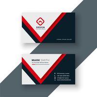 modern geometric red business card design