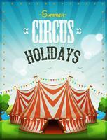 Cartel de vacaciones de circo de verano