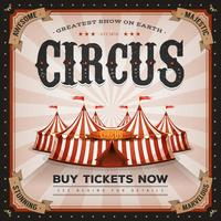 Vintage And Grunge Circus Poster