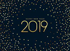 beautiful 2019 golden glitter background