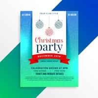 christmas party flyer design template