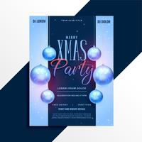 elegant christmas party poster flyer design