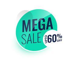 mega sale modern label or banner design