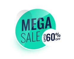 mega sale modern label or banner design